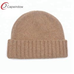OEM Sport Merino Wool Custom Woven Logo Beanie Winter Hat