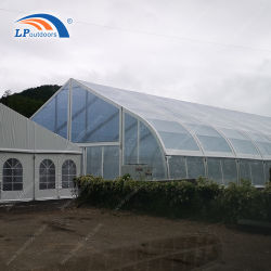 Large Aluminum Frame Curved Shape Clear Event Tent for Sports