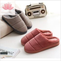 6a08579a80b Comfortable Warm Winter Ladies Indoor Shoes Sheepskin Plush Slipper