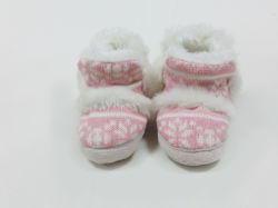 Child Warm Indoor Pretty Cats Cartoon Knitted Snow Boots for Winter