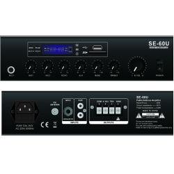 PA Mixer Amplifier (SE-60U) with USB, SD, FM, Bluetooth, Echo