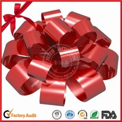 PP Solid and Metallic Printed Gift Wrap Ribbon Combined Star Bow