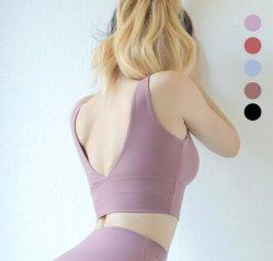Sample Free Women Sports Wear Running Tops White Yoga Bra