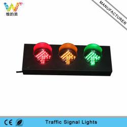 Customized 100mm Red Green Yellow LED Arrow Signal Traffic Light