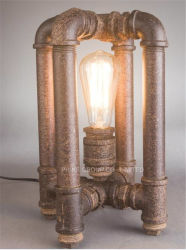 Decorative Table/Desk Lamp with Water Pipe for Bedside or Study