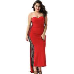 34e146f16406 Wholesale High Quality Fat Women Red Sexy Formal Dress
