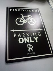 Sport Theme Bicycle Metal Sign for Outdoor
