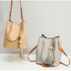 High Quality Custom Designer Fancy Color PU Leather Tote Bag Women Bucket Bag Wholesale China 2018