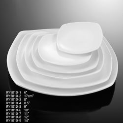 Square Shape High Quality Porcelain Plates with Different Size