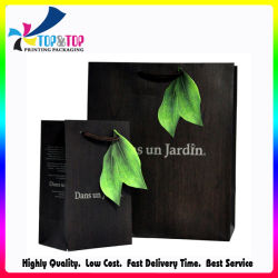 Custom Fashion Green Leaves Christmas Shopping Wrapping Packaging Paper Printing Gift Bag