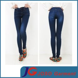 Womens Ladies Distressed Denim Print Look Jegging Legging Jean (JC1232)