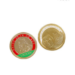 Newly UK Metal Silver Enamel 12 Sides Trolly Coin