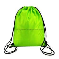 Factory Custom Logo Printing Sports Backpack 210d Polyester Drawstring Bag for Promotion