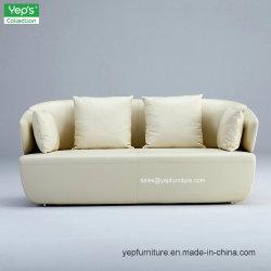 Double Seats Microfiber Genuine Leather Sitting Room Sofa (YS076A2)
