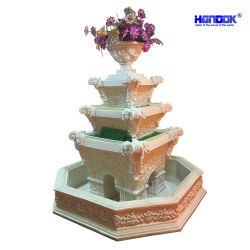 Etonnant 2100mm High Sandstone Garden Decorative Water Fountains Outdoor With  Flowerpot