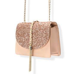 Hot Sale Glitter Bling Bling Ladies Handbag Woman Chain Crossbody Bag