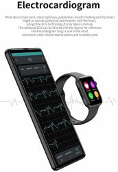W34 Bluetooth Call Smart Watch Color Touch Screen Sports Watch ECG Heart Rate Monitor Compatible with Android Ios