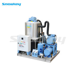Automatic PLC Controller Water-Cooled Slurry Ice Machine 5t/D