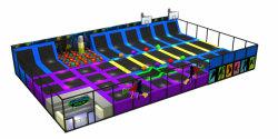 Indoor Children Trampoline Park High Performance Trampoline Equipment