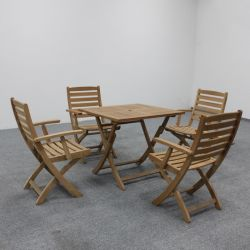 Garden Dining Furniture Foldable Teak Table Set