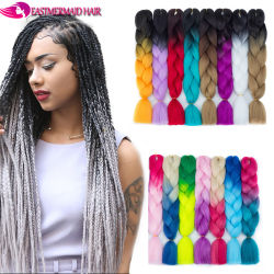 Hair Braids Hair Extensions & Wigs Young Look Jumbo Braids Low Temperature Fiber 48 Inch Braiding Style Synthetic Hair Extensions Jumbo Braids Bulk 613#