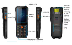 Bar Code Reading Lte 4G Cell Phone Mobile PDA Used in Express Logistics