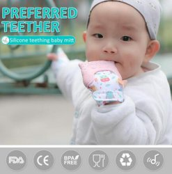 Silicone Baby Teething Toys Teething Glove for Babies
