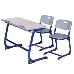 School Classroom Furniture Student Double Table and Chair
