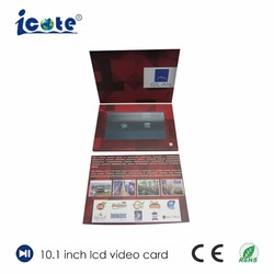 10.1 Inch LCD Business Gift Video Card Greeting Video Card with Touch Screen