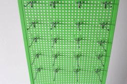 Free Standing 2 Sided Metal Material Hooks Pegboard Display Rack