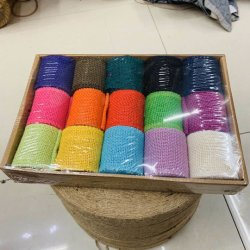 Handmade Christmas Decorations of Box Binding Clip Linen Colour Hemp Rope Linen Roll Bud Silk Linen with DIY Environmental Protection