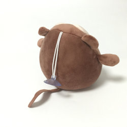 Brown Money Stuffed Foam Beads Plush Keychain with Sucker