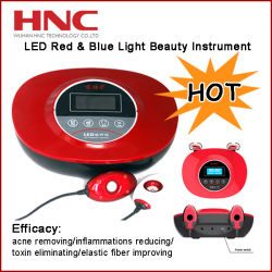 Factory Offer LED Red Light and Blue Light Therapy Instrument for Acne, Scar