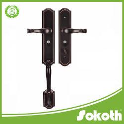 Wholesale Zinc Alloy Handle Door Locks in Big Plate for Villa and Exterior Doors