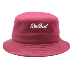 Custom Women Red Cotton Bucket Hat Customized Logo Bucket Hat 62310764b3
