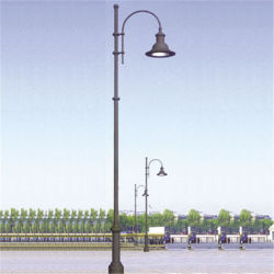 China aluminum lamp post aluminum lamp post manufacturers 3m high cast aluminum decorative single head lamp post mozeypictures Images