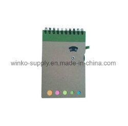 Portable 100% Recycled Kraft spiral Notepad with Paper Circle Day Wheel and Paper Pen