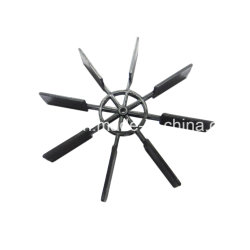 Injection Moulded Big Blade Plastic Nylon Boat Propeller