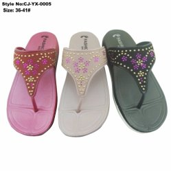1e27892da Elegant PVC Lady Flip Flops with Rhinestone on Upper