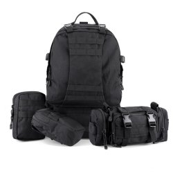 Outdoor 50L Military Rucksacks Assault Pack Combat Tactical Molle Backpack