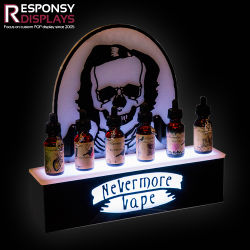 New Acrylic Holder Essential Oil LED Light Counter Display