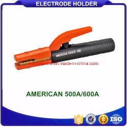300A Welding Electrode Holder Clamp Style Casting Brass Materials for Arc MMA Welder,Black Electrode Holders