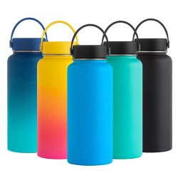 bc8712666e Wevi Wide Mouth Drink Sports Bottles Double Wall Vacuum Insulated Stainless  Steel Thermos Water Bottle with