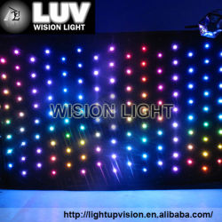 Certificate advertising light weight customize design high quality full color LED stage decoration curtain displays