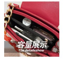 Hot Sale Pure Color Metal Chain Mini Fashion Simple Style Lady Handbag Female Shoulder Strap Bag for Girls Daily Use