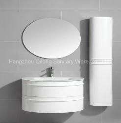 Semi Circle PVC Bathroom Cabinet With Side Vanity