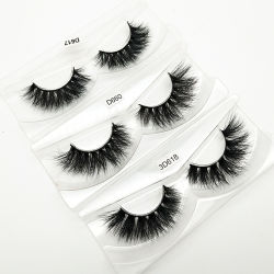be926cf670f Cruelty Free Natural Extension Long Cross Thick False Eye Lashes 3D Mink  Eyelashes