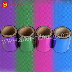 Patterns Thermal BOPP Lamination Metalized Holographic Film for Gift Packing