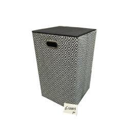 Foldable Laundry Basket with Iron Handle