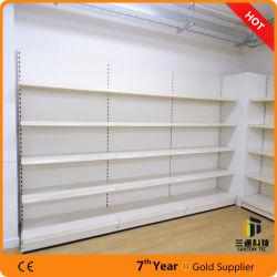 Tegometall Style Supermarket Gondola Display Shelf with Back Panel